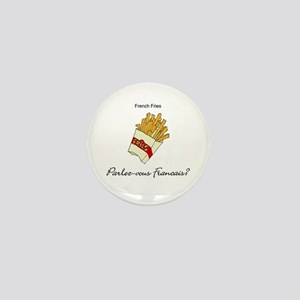 French Fries French Language Mini Button