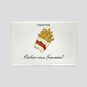 French Fries French Language Rectangle Magnet