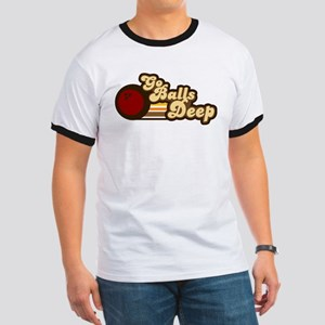 Balls Deep- Cream Letters T-Shirt