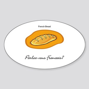 French Bread French Language Oval Sticker