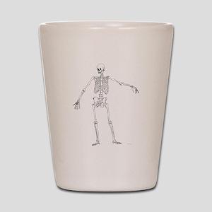 Full Frontal Skeleton Shot Glass