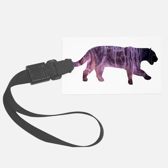 Black Jaguar in Paint Luggage Tag
