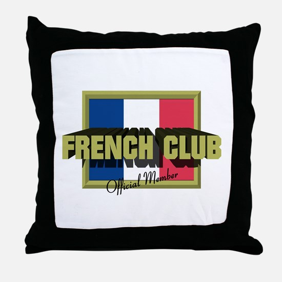 French Club Official Member Throw Pillow
