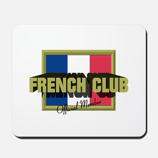 French Club Official Member Mousepad