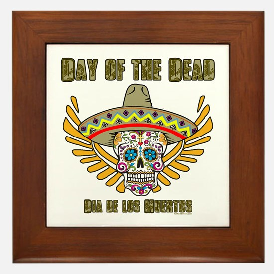 Day Of The Dead-Dia De Los Framed Tile