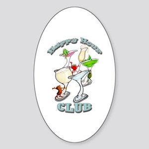 Happy Hour Club Oval Sticker