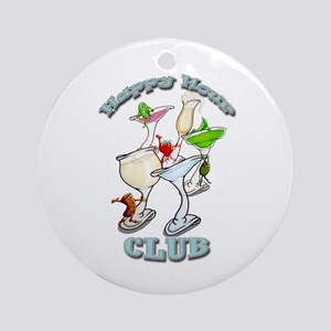 Happy Hour Club Ornament (Round)