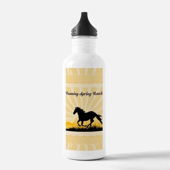 Western Custom Text Water Bottle