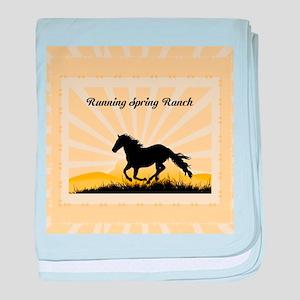 Western Custom Text baby blanket