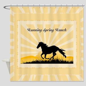 Western Custom Text Shower Curtain