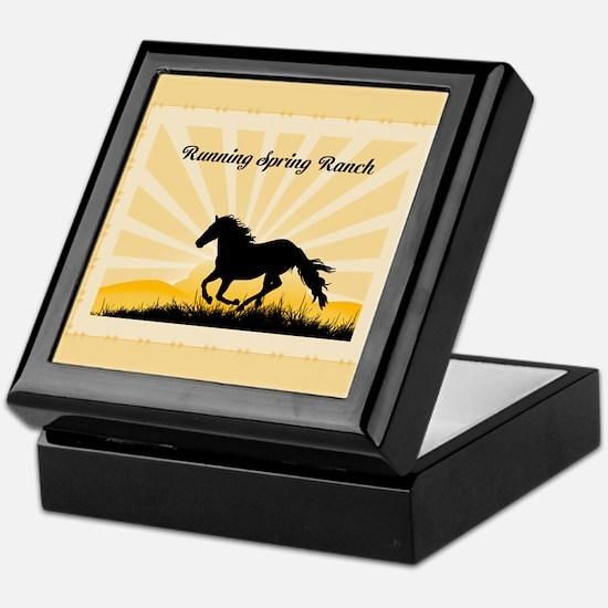 Western Custom Text Keepsake Box