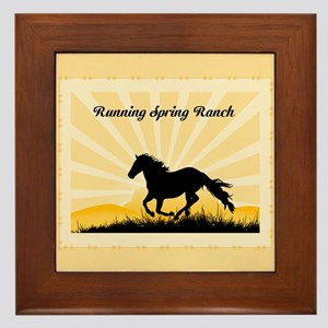 Western Custom Text Framed Tile