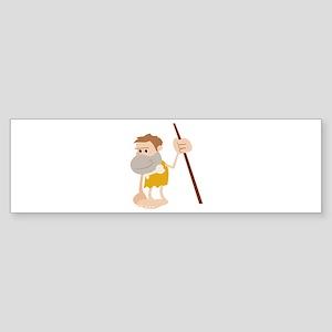 Cave Man Bumper Sticker