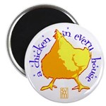 """a chicken in every house 2.25"""" Magnet (10 pack)"""