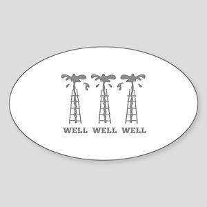 Well Well Well Sticker (Oval)