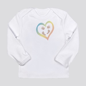 Baby Hands and Feet in Heart Long Sleeve T-Shirt