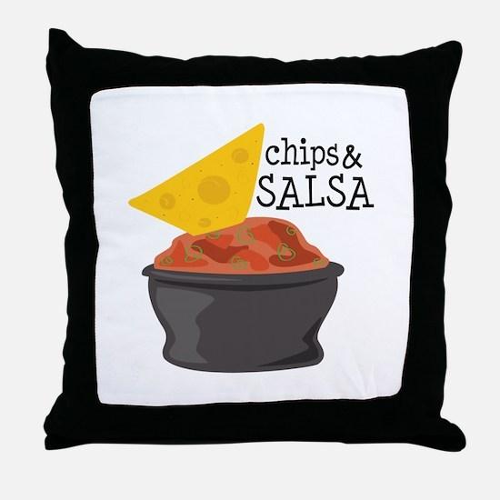 Chips & Salsa Throw Pillow