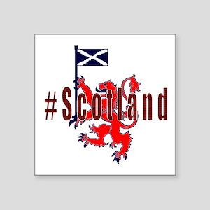 Hashtag Scotland red tartan Sticker