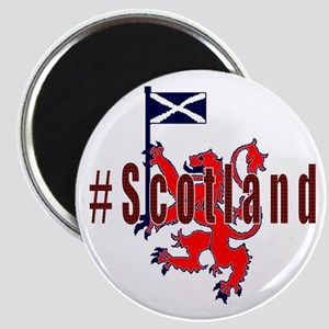 Hashtag Scotland red tartan Magnets