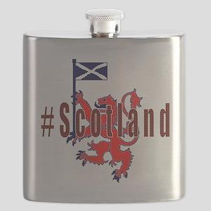 Hashtag Scotland red tartan Flask