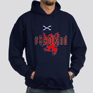 Hashtag Scotland Red Tartan Hoody Hoodie (dark)