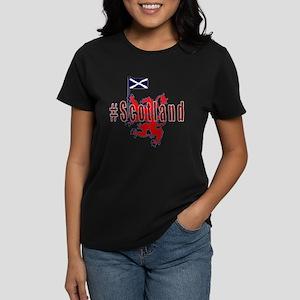 Hashtag Scotland Red Tartan T-Shirt