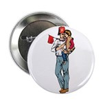Shriner and Child Button