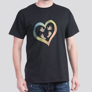 Baby Hands and Feet in Heart T-Shirt