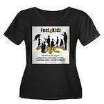 Fest4Kidz Women's Plus Size Scoop Neck Dark T-Shir