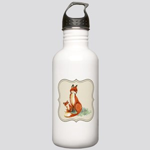 Vintage foxes watercol Stainless Water Bottle 1.0L