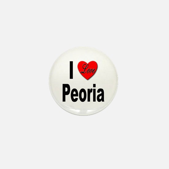 I Love Peoria Mini Button