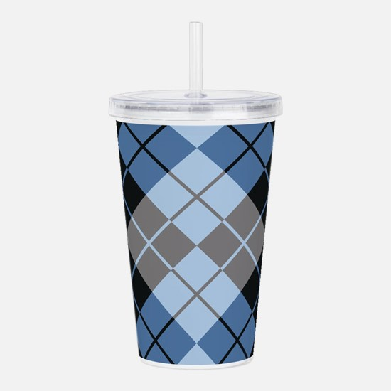 Argyle Design Acrylic Double-wall Tumbler