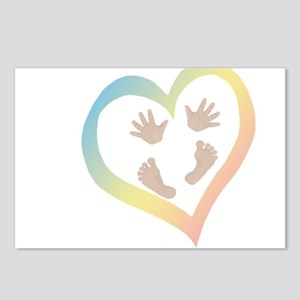 Baby Hands and Feet in He Postcards (Package of 8)