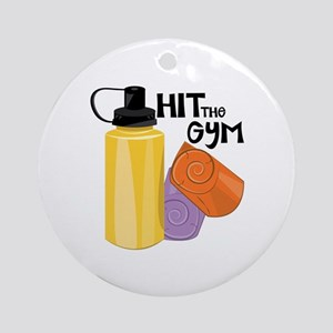 Hit The Gym Ornament (Round)