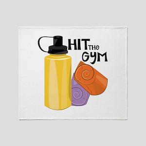 Hit The Gym Throw Blanket