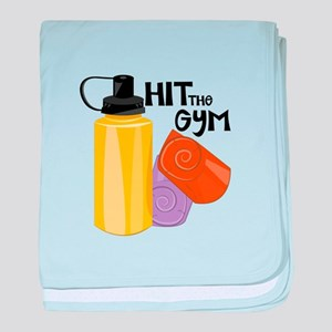 Hit The Gym baby blanket