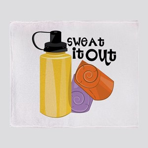 Sweat It Out Throw Blanket