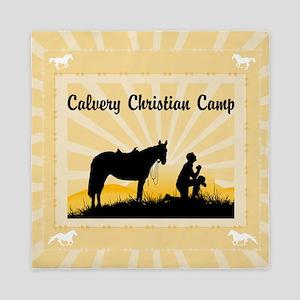 Custom Praying Cowboy Queen Duvet