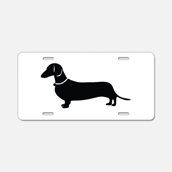 Weiner Dog Aluminum License Plate