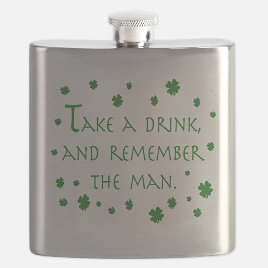 Take a drink, and remember the man Flask