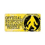 Official Bigfoot Research Aluminum License Plate