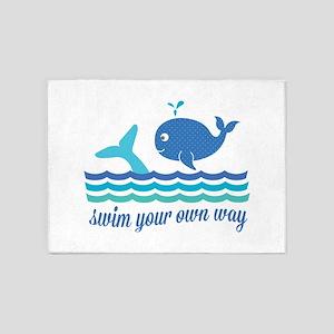 Swim Your Way 5'x7'Area Rug