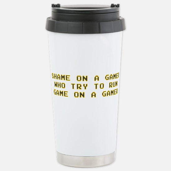 Gamer Shame Stainless Steel Travel Mug