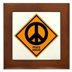 Peace Ahead Framed Tile