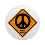 Peace Ahead Ornament (Round)