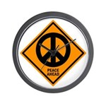 Peace Ahead Wall Clock