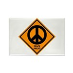 Peace Ahead Rectangle Magnet (10 pack)