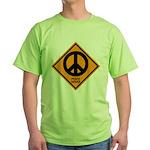 Peace Ahead Green T-Shirt