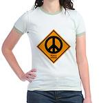 Peace Ahead Jr. Ringer T-Shirt