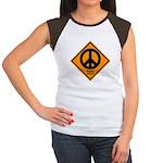 Peace Ahead Women's Cap Sleeve T-Shirt